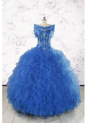Beautiful Quinceanera Dresses in Royal Blue Appliques