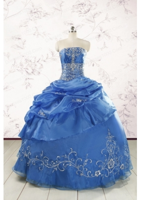 Exclusive Royal Blue Quinceanera Dresses with Appliques For 2015