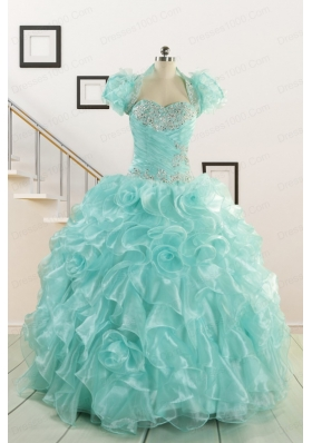Beautiful Quinceanera Dresses with Appliques and Ruffles for 2015