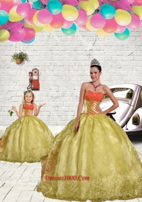 2015 Unique Beading and Embroidery Light Yellow Princesita Dress