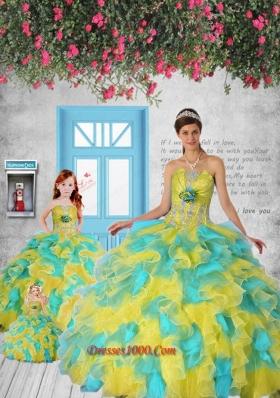 Classical Appliques and Ruffles Multi-color Princesita Dress
