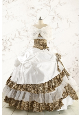 2015 Multi Color Puffy Quinceanera Dresses with Wraps