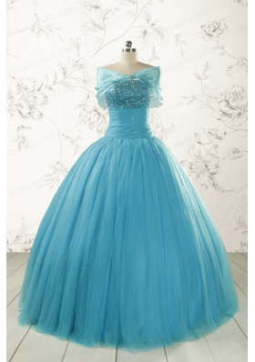 New Style Strapless Quinceanera Dresses with Beading for 2015