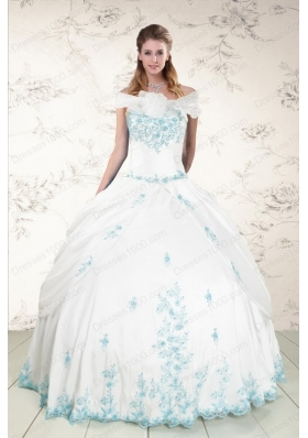 Elegant Appliques Strapless Lovely Quinceanera Dresses for 2015