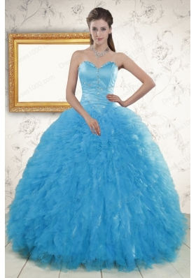 Cheap Remarkable Beading Quinceanera Dresses in Baby Blue