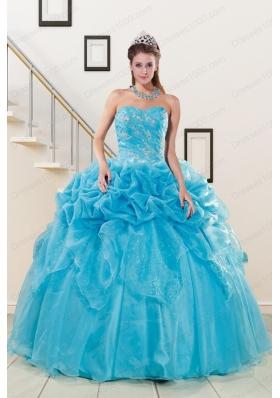 In Stock Sweetheart Beading Quinceanera Dress in Aqua Blue