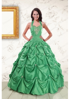 In Stock Halter Top Sweet 16 Dresses with Appliques