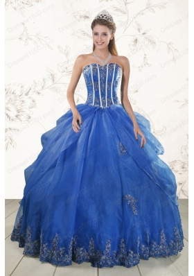 most popular Appliques quinceanera gowns in Royal Blue