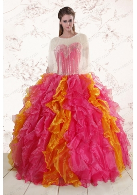 New Style  Beading Quinceanera Dresses in Multi color