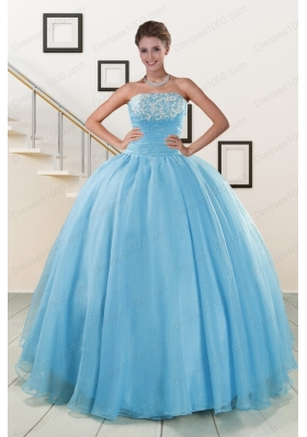 New Style Strapless Quinceanera Dresses with Appliques