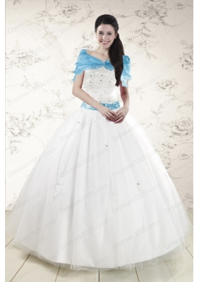 New Style  White Quinceanera Dresses with Appliques
