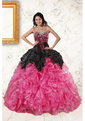most popular Multi Color Ball Gown Ruffled Quinceanera Gowns