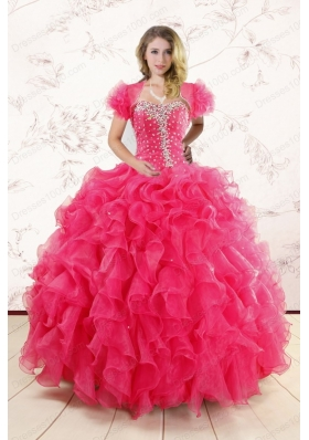 Most Popular Ruffles and Beaded Wonderful Quinceanera Gowns for 2015