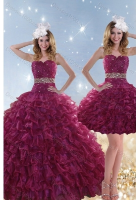 Fashionable Beading and Ruffles Quinceanera Dresses with Floor Length