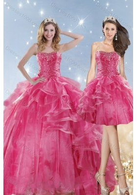 2015 Fashionable Dresses for Quinceanera with Beading and Ruffles