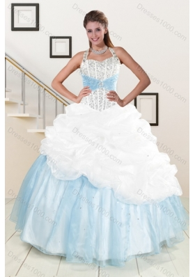 2015 Multi Color Dresses for Quince with Pick Ups and Beading