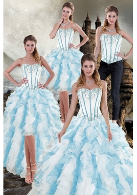 2015 New Style Ruffles Quinceanera Dresses in Multi Color