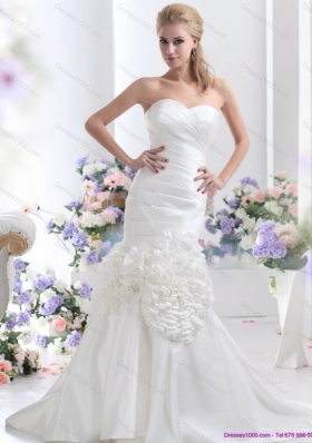 2015 Top Selling Sweetheart Wedding Dress with Ruching