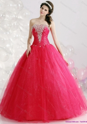 Brand New Strapless 2015 Quinceanera Gowns with Rhinestones