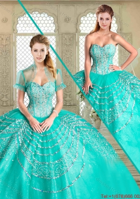 Most Popular Sweetheart Quinceanera Gowns with Beading and Appliques