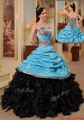 Fashionable New Arrivals Strapless Quinceanera Gowns with Ruffles and Pick Ups