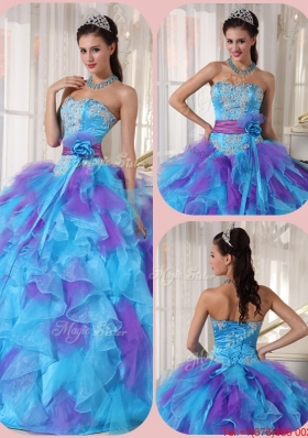 Perfect Ball Gown Floor Length Appliques Quinceanera Dresses