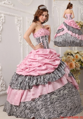 Perfect Ball Gown Strapless Quinceanera Gowns in Multi Color