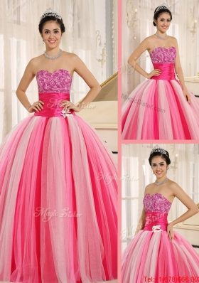 Fall Best Selling Strapless Lace Up Quincanera Dresses in Multi Color