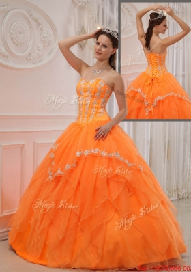 Most Popular Ball Gown Sweetheart Appliques Quinceanera Dresses