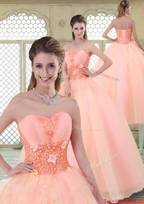 Beautiful Appliques and Beading Sweet 16 Dresses with Sweetheart