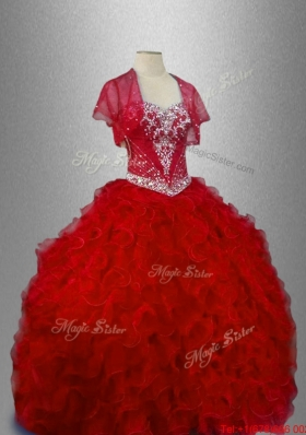 Ball Gown In Stock Sweet 16 Dresses with Ruffles