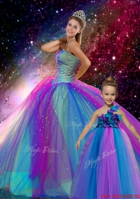 Classical Ball Gown Sweetheart Multi Color Macthing Sister Dresses with Beading
