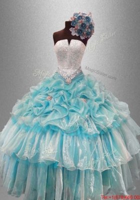 Perfect Strapless Quinceanera Dresses with Beading and Pick Ups