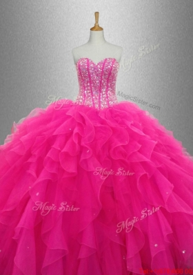 Popular Sweetheart Quinceanera Dresses with Beading and Ruffles for 2015