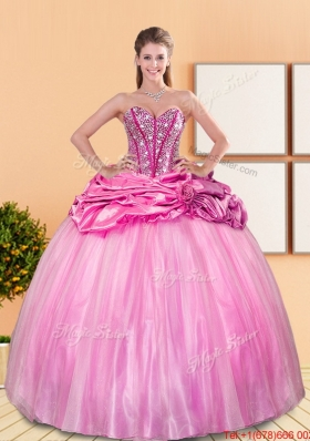 Fashionable Beading and Pick Ups Sweetheart Quinceanera Dresses for 2015 Spring
