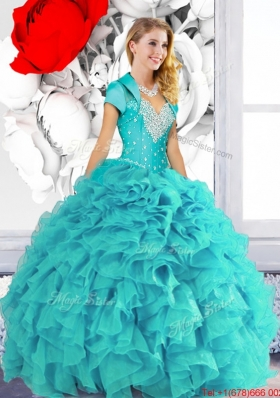 2015 Designer Sweetheart Quinceanera Dresses with Beading and Ruffles
