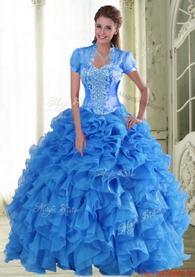 Elegant Appliques and Ruffles Sweetheart Quinceanera Dresses for 2015