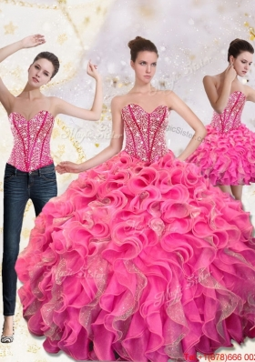 New Style Sweetheart Quinceanera Dresses with Beading and Ruffles
