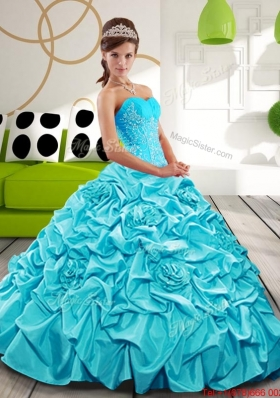 Free and Easy Sweetheart Quinceanera Dresses with Appliques and Pick Ups