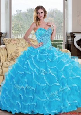 The Super Hot Ball Gown Sweetheart Sweet Fifteen Dress with Beading