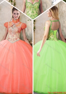 Cheap Straps Sweet 16 Dresses with Beading and Appliques