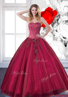 Fashionable 2015 Affordable Quinceanera Dresses with Beading and Appliques