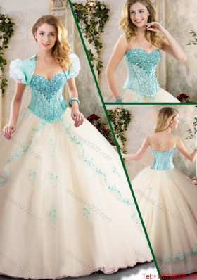 Beautiful Sweetheart Quinceanera Dresses with Appliques