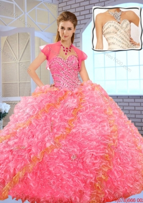 2016 Pretty Fashionable Sweetheart Beading Quinceanera Dresses in Multi Color