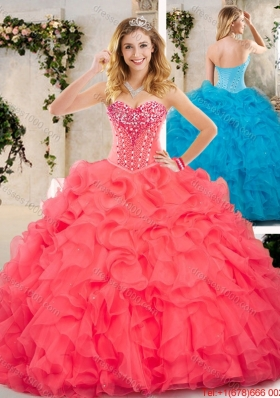 Beautiful Beading and Ruffles Sweet 16 Dresses for 2016