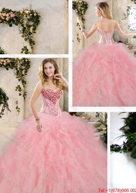 Elegant Beading and Ruffles Sweet 16 Dresses in Multi Color