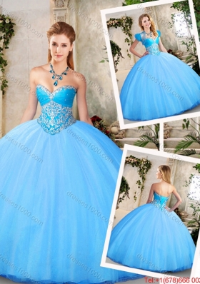 Elegant Sweetheart Quinceanera Dresses with Beading