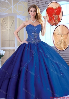 Exclusive Royal Blue Quinceanera Dresses with Appliques