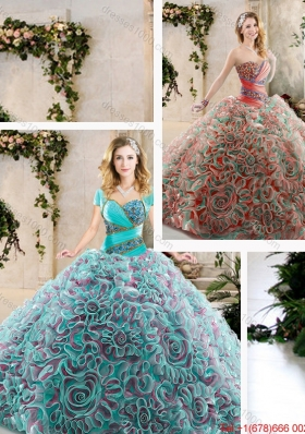 Hot Sale Beading and Ruffles Quinceanera Gowns with Sweetheart
