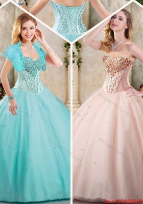 Latest Beading Sweetheart Quinceanera Gowns for 2016